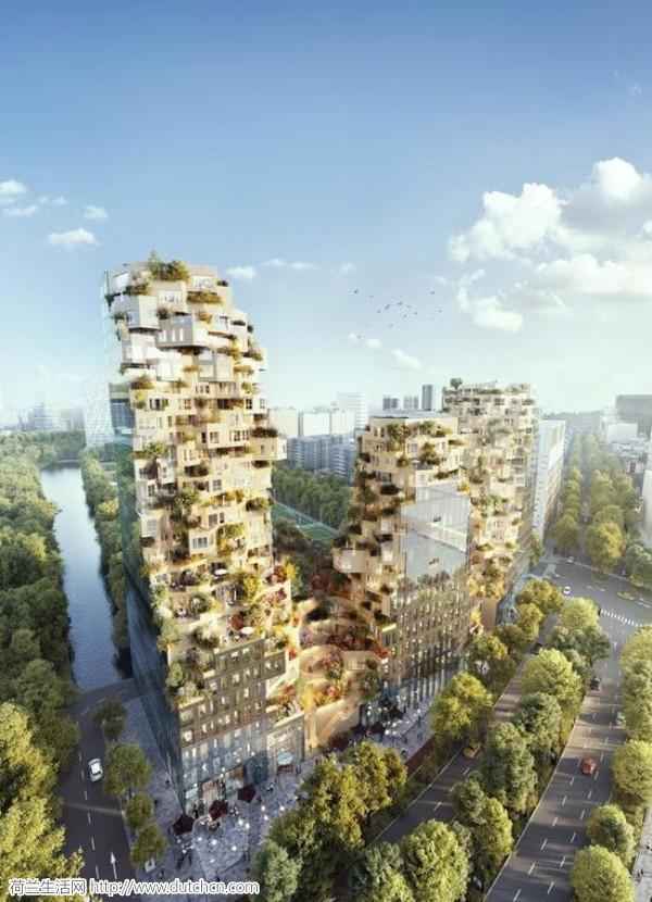荷兰建筑师又开了一次脑洞 一座有山谷的生态建筑