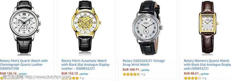 神探夏洛克同款手表,Rotary 瑞士劳特莱优惠48.09欧起