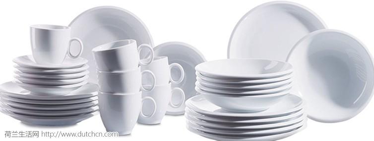 百年品牌奥地利MäserDomestic Tim 系列 陶瓷餐具30件,仅售59.95欧