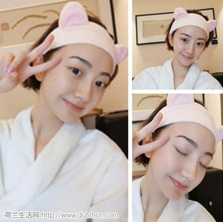景甜直播同款,ETUDE HOUSE 爱丽小屋超萌粉色猫耳束发带仅售5.92欧