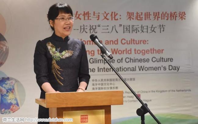 """驻荷兰使馆举办""""女性与文化:架起世界的桥梁""""国际妇女节联谊活动"""
