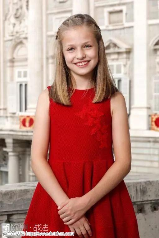 西班牙未来的女王,颜好腿长还会说一口流利的中文,了解一下?