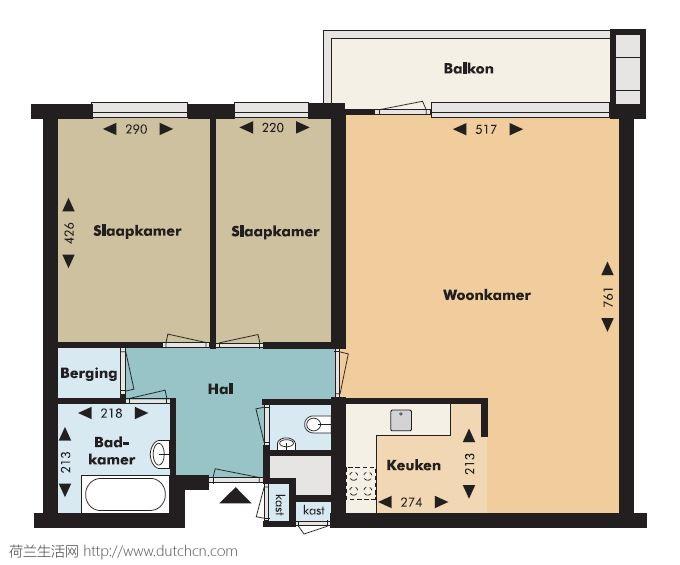 TU/e附近80平两室一厅公寓转租,9月1日,拎包入住