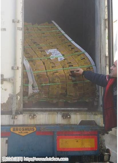不可思议的一幕!荷兰卡车司机运输的一车芒果途中变成了芒果汁