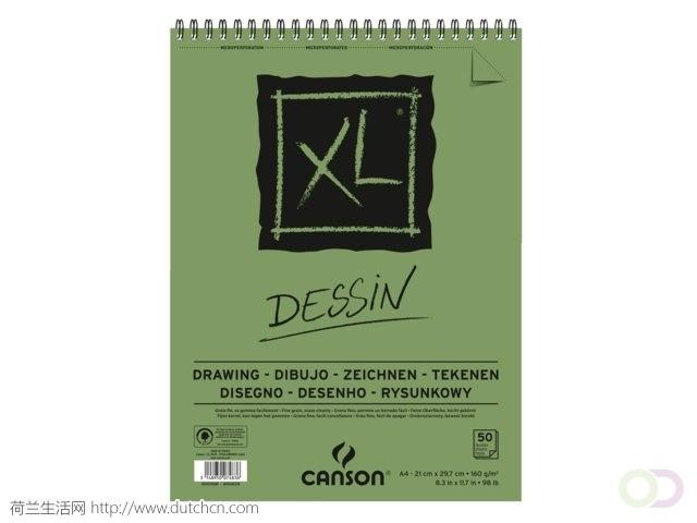 Tekenblok_Canson_Xl_Dessin_A4_160gram_50vel_Spiraal(10134585).jpg