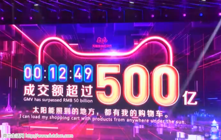 """荷媒报道中国""""光棍节"""":一分半钟内花费百亿人民币"""