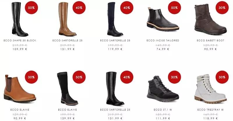 号称最舒适的鞋子打折了!ECCO官网新年优惠高达50%
