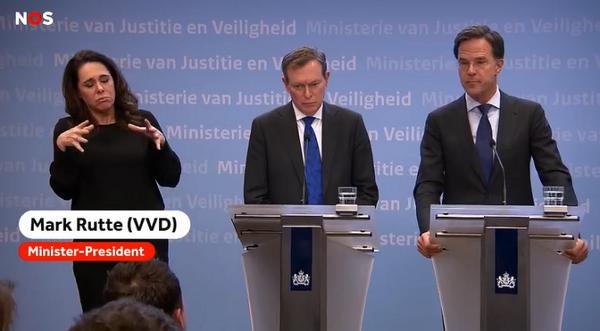 荷兰首相刚刚表示,取消百人以上活动,暂时没有理由关闭学校