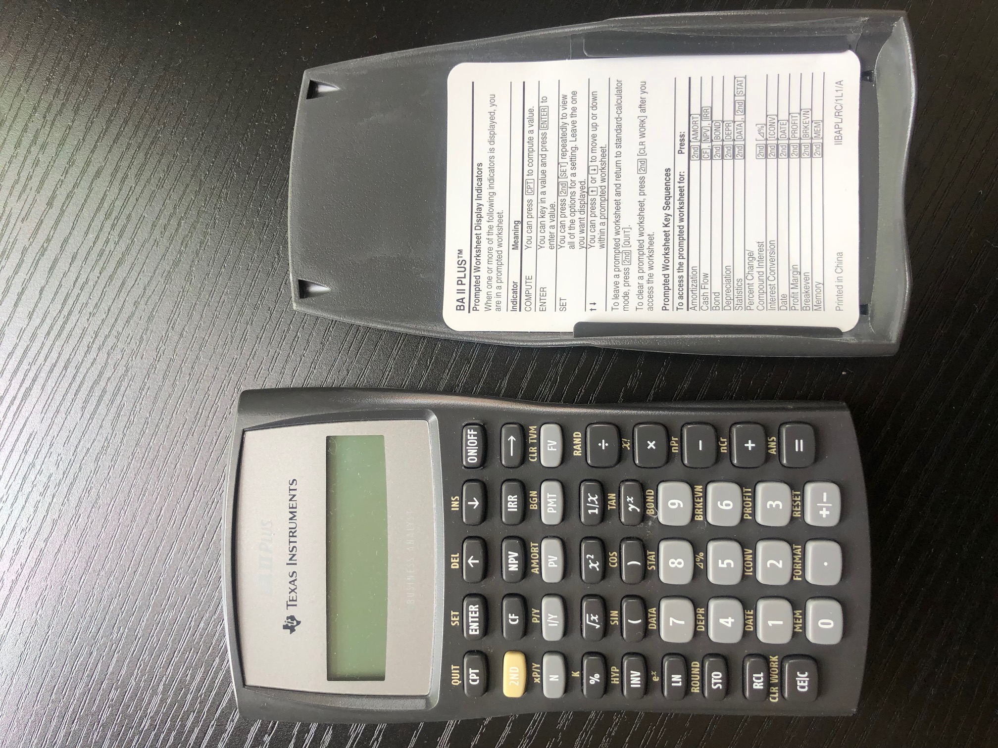 CFA 考试计算器