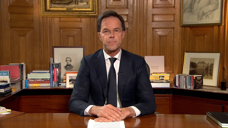 荷兰首相吕特今日发话,荷兰将走英国之道,群体免疫为最佳方案