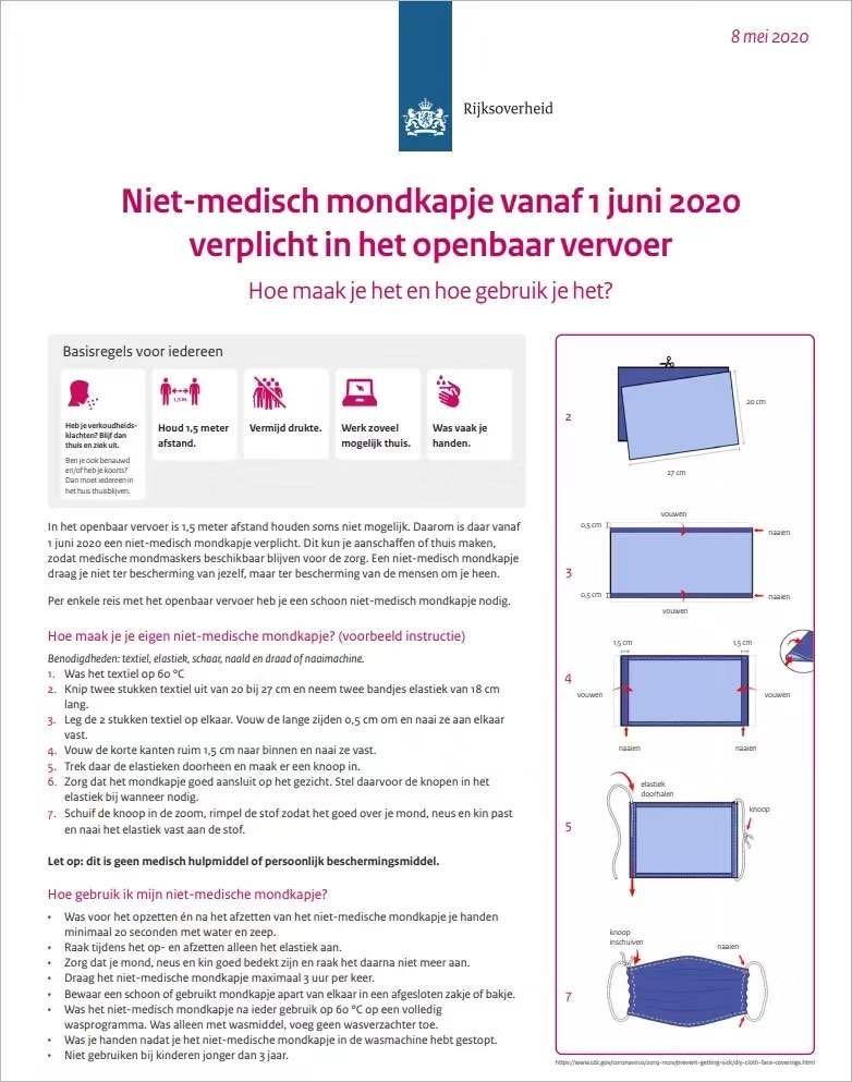 荷兰卫生部门又被打脸?非医用口罩的防疫测试结果出来了