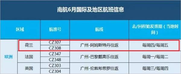 最近想回国的小伙伴看过来,荷兰往返中国六月航班计划公布