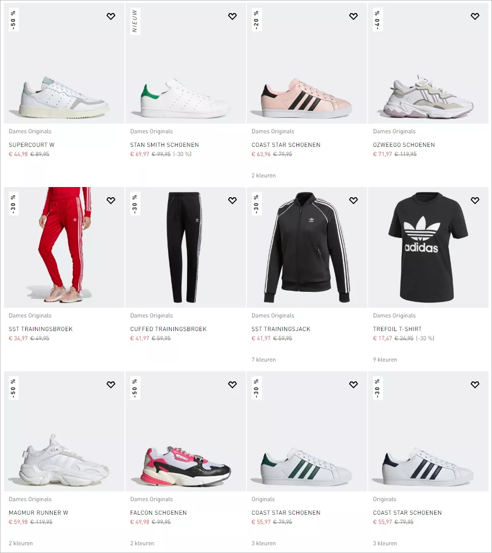 Adidas大促,海量商品高达50%折扣,还有25%的额外优惠,码数不多,快!