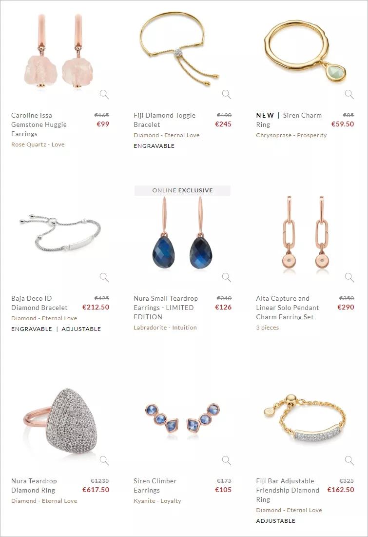 明星们爱到骨子里的轻奢珠宝品牌夏季大促,500多件单品低至五折