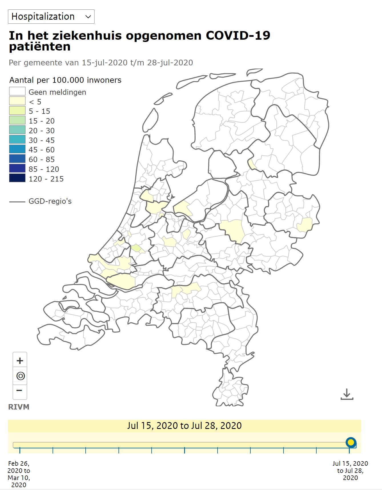 荷兰上周新增感染人数1329,累计确诊53374人!