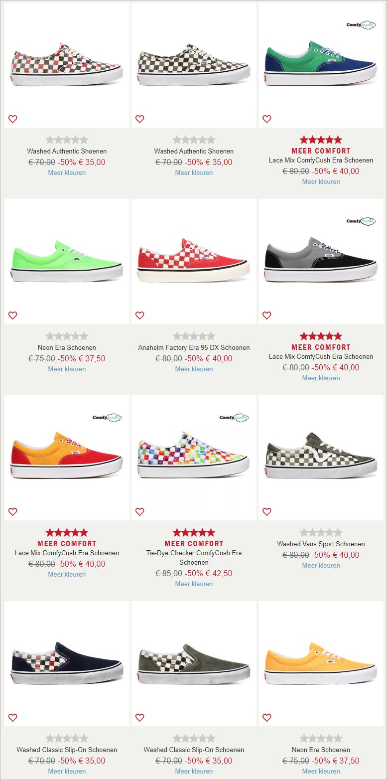 众多明星人手一双的Vans鞋,只需30来欧元,还有额外10%福利,冲鸭!