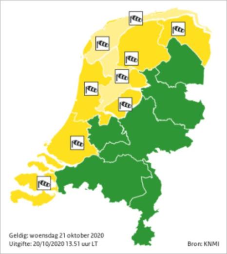 快讯!明天荷兰大部分地区有妖风,最高风速将达到100公里/小时